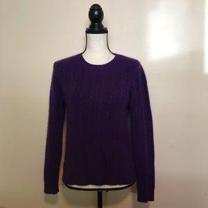 Lauren Ralph Lauren Purple 100% Cashmere Sweater